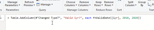 Figure 5: Call Check dates function example