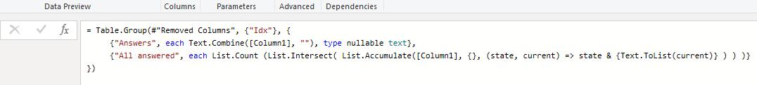 Figure 5: Adding the List.Accumulate