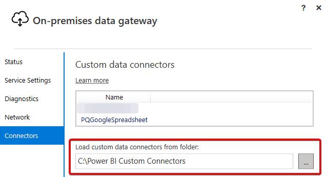 Custom Connector Folder
